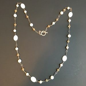 Silpada Necklace with Mother-of-Pearl Beads